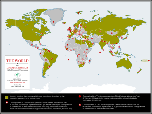 linnaeusapostlesworldmap